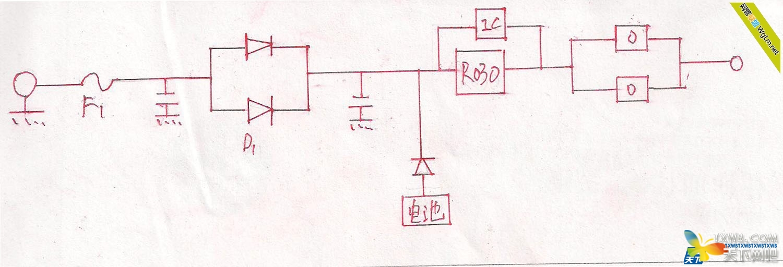 1保险:保护后级电路  2大功率复合二极管:防止前后